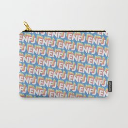 ENFJ Trendy Rainbow Text Pattern (Blue) Carry-All Pouch