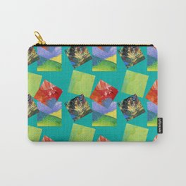 Painted Squares Jiggle - Green Carry-All Pouch