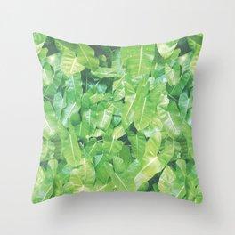 SUMMERTIME PALM Throw Pillow
