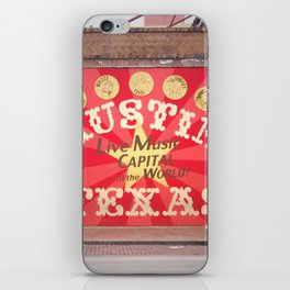 Live Music Capital of the World iPhone Skin