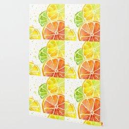 Fruit Watercolor Citrus Wallpaper