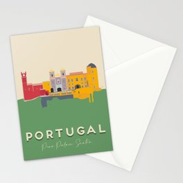 Portugal, Pena Palace, Sintra Travel Poster Stationery Cards