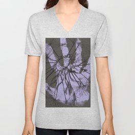 August (Innocence) - Grey and Lilac Palette Unisex V-Neck