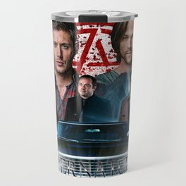 Supernatural Family dont end with Blood 4R Travel Mug