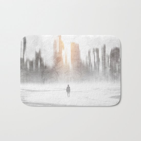 Grey hope Bath Mat