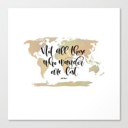 Not all those who wander are lost (blush/green) Canvas Print
