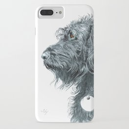 Black Labradoodle iPhone Case