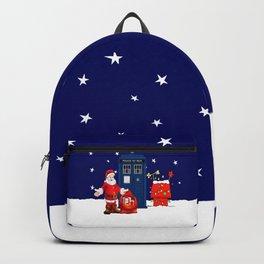 Tardis With Santa Christmas Backpack