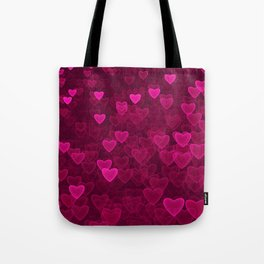 Valentine's Day | Romantic Crimson Galaxy | Universe of pink purple hearts Tote Bag