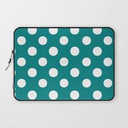 Polka Dots (White/Teal) Laptop Sleeve