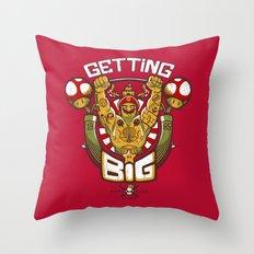 Getting Big Throw Pillow