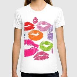 Colorful Lipstick Kisses Lip Color T-shirt