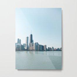 Chicago Skyline Over Lake Michigan Metal Print