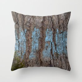 Blå bark Throw Pillow