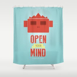 Open your mind Shower Curtain
