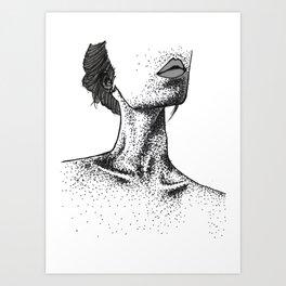COLLARBONE STIPPLING Art Print