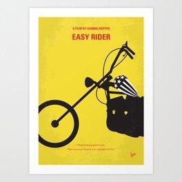 No333 My EASY RIDER minimal movie poster Art Print