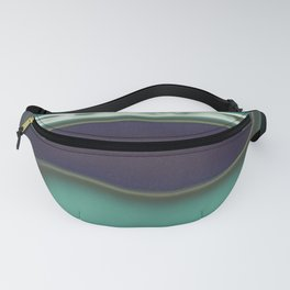 Instang Abstraction in Teal Fanny Pack