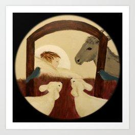 Nativity 2016 - Original Painting Art Print