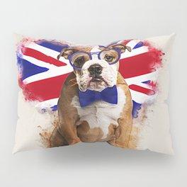 English Bulldog Puppy in Glasses Pillow Sham