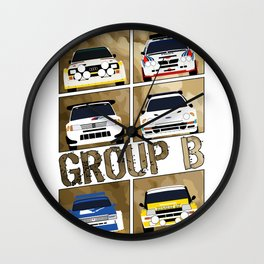 Group B Wall Clock