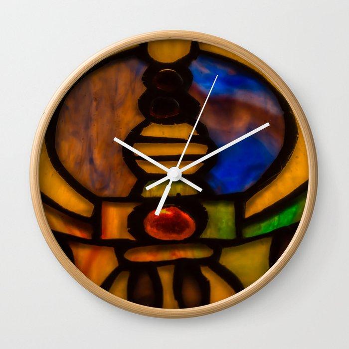 Colorful Glass Mosaic Wall Clock