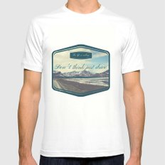 Roadtrip in norway MEDIUM White Mens Fitted Tee
