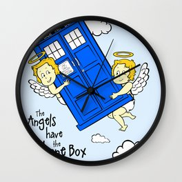 The Angels have the Phone Box (Version 3) Wall Clock