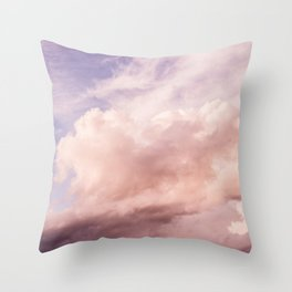 Perfect Pink Summer Sky Nature Photography Throw Pillow