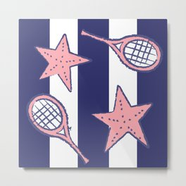 Stars & Strings Salmon Metal Print