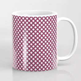 Anemone and White Polka Dots Coffee Mug