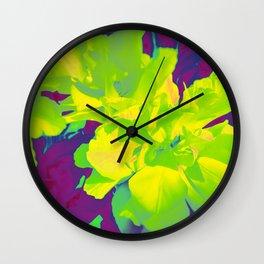 Eccentric Flowers Wall Clock