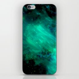 Teal Blue Indigo Sky, Stars, Space, Universe, Photography iPhone Skin