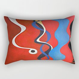 smart red Rectangular Pillow