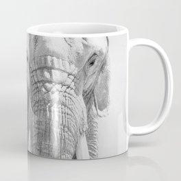 Elephant Photography | Wildlife Art | African | Nature | Animal Photography | Black and White Coffee Mug