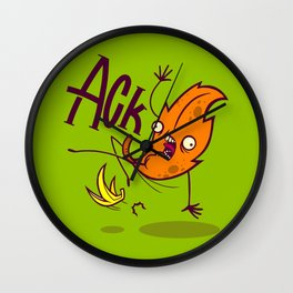 Bananas Cause Fall Wall Clock