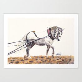 Draught Horse Art Print
