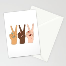 Peace Hands 3 Stationery Cards