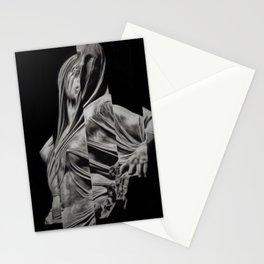 'Veiled Modesty' Contemporary Portrait by Jeanpaul Ferro Stationery Cards