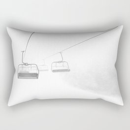 4 Seat Chair Lift Deep Snow B&W Rectangular Pillow