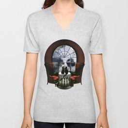 Room Skull Unisex V-Neck