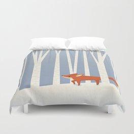 Fox in the Snow Duvet Cover