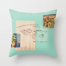 invisible Throw Pillow