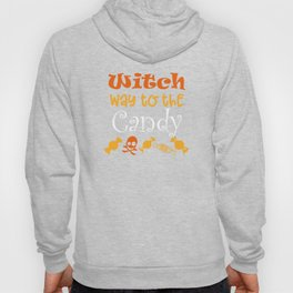 Halloween T-shirt/ Witch way to the Candy Hoody