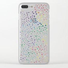 rainbow color geometric Clear iPhone Case