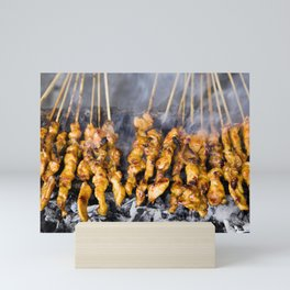 Indonesian Cuisine Chicken Satay Mini Art Print