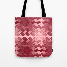 Oriental Symbol (Red & Silver) Tote Bag