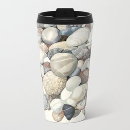 Sea shore of Crete Metal Travel Mug