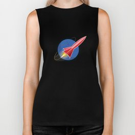 Red Rocket Blue Biker Tank