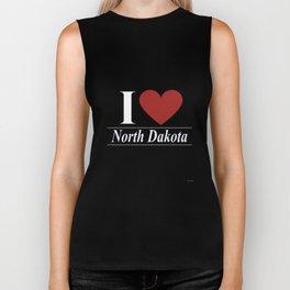 I Love North Dakota Biker Tank